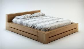 lit bois massif contemporain noyer clair haut de gamme lounge
