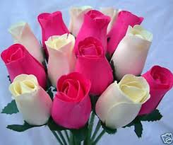 roses wholesale 30 cerise fuchsia pink wooden roses wholesale artificial
