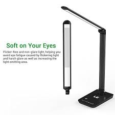 le led le dimmable led desk l 7 dimming levels eye care 8w touch