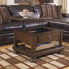 Rustic Brown Coffee Table Furniture Porter Lift Top Cocktail Table In Rustic Brown