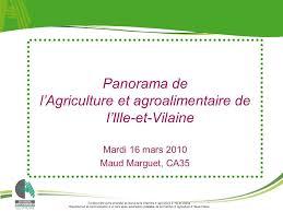 chambre agriculture 16 l agriculture et agroalimentaire de l ille et vilaine ppt