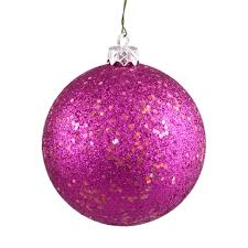 200mm 8 pink glitter ornament with wire