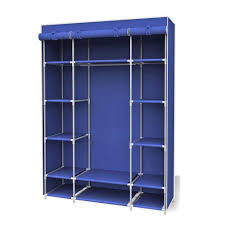 sunbeam 67 in h navy storage closet with shelf sc01507 the home