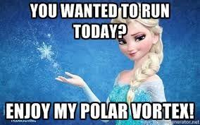 Running Memes - blogger on the very cold run running humour cold weather and elsa