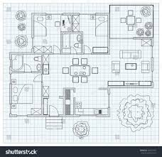 Home Design Studio For Mac Free Download by Linear Architectural Sketch Plan Studio House Stock Vector India
