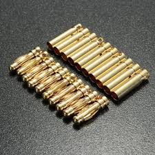 aliexpress buy hot gold plated 5mm 3 5mm tungsten 3 5mm 10 pair gold plated copper banana connector