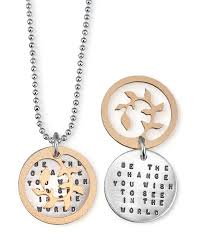 inspirational necklaces be the change necklace change gift and pretty clothes
