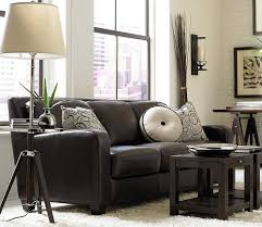 dark chocolate classic sofa with pillow decor pinterest