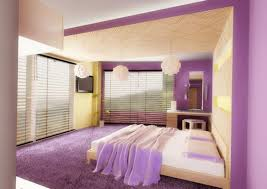 interior engaging purple bedroom decoration using light