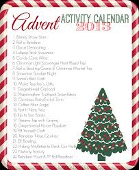 our 2013 advent activity calendar the activities crafts and