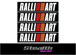 Stealth Decals U2014 Mitsubishi Evolution Ralliart Bumper Decal