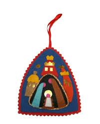 polish art center polish christmas ornament felt nativity