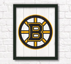 Home Decor Boston Boston Bruins Rustic Home Decor 16x20 By Thepaintedllama On Etsy