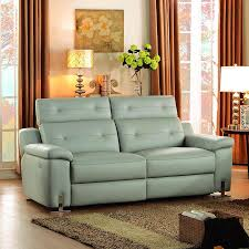 homelegance vortex power double reclining sofa in light grey