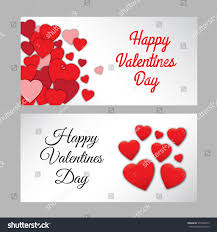 valentine s set two happy valentines day abstract stock vector 575248375
