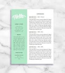 Two Page Resume Template Resume Template And Cover Letter For Word And Pages Two Page