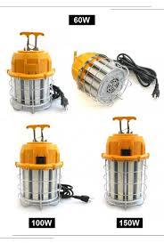temporary job site lighting job site lighting 60w 100w 150w outdoor construction temporary led light