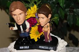 cake toppers bobblehead cake topper friday hans and princess leia bobble cake