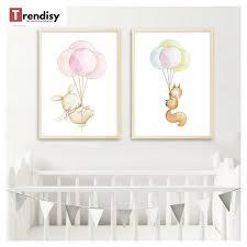 toile pour chambre bébé poster toile lapin ballon décoration tableau imprimé sur toile