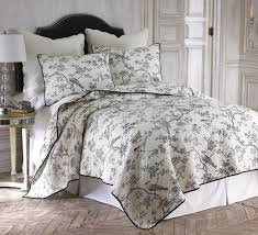 Girls Bedroom Quilt Sets Black Toile Full Queen Quilt Set Toile Beautiful Toile