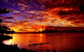 dramatic wallpaper nature sunset dramatic sea clouds desktop wallpaper beach sunset