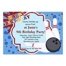 free bowling birthday invitation template
