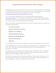 How To Build A Business Plan Template 7 Simple Business Plan Template Word Letter Format For