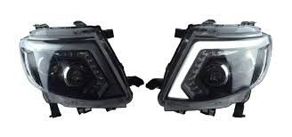 set head lamp lights led ccfl black fit ford ranger t6 wildtrak