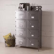 casier de bureau metal armoire decoclico achat armoire métallique grise 8 casiers style
