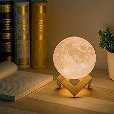 veilleuse pour chambre a coucher kuulee simulation 3d lune veilleuse 3d imprimer 3 led rvb le
