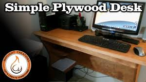 Free Plans To Build A Computer Desk by Make A Computer Desk With A Single Sheet Of Plywood Youtube