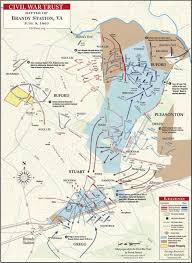 A Map Of The United States During The Civil War by The Battle Of Brandy Station June 9 1863 Civil War Trust