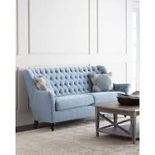 light blue velvet couch homcom two seat sofa light blue 220 liked on polyvore
