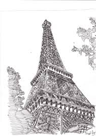 eiffel tower pen technical by mike12345567 on deviantart
