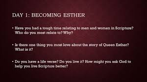 esther it s tough being a woman with faith like hers bible study series by carol peterson ppt