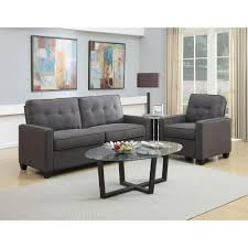 Tufted Living Room Furniture by Pulaski Furniture Vernon Slate Gray Polyester Sofa Ds 2635 680 424