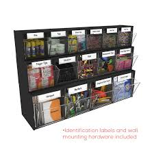 Wall Calendar Organizer System Tilt Bin Plastic Storage System W 4 Bins By Deflecto Def20404op