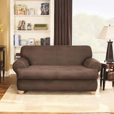 overstock sofa covers sure fit stretch faux leather 2 piece t cushion sofa slipcover