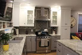 kitchen marvelous white kitchen designs light grey subway tile