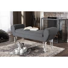 baxton studio emerson modern and contemporary grey linen