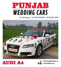 indian wedding car decoration wedding cars decorated audi for wedding available in chandigarh