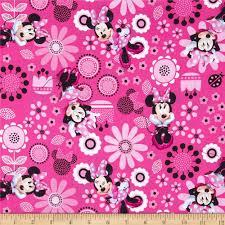 disney minnie bowtique minnie allover pink from fabricdotcom