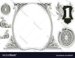 money ornaments royalty free vector image vectorstock