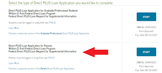 william d ford federal direct loan program how to apply for a direct plus loan