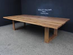 Reclaimed Timber Dining Table Mitred U Based Table With Exposed Tenons Christian Cole