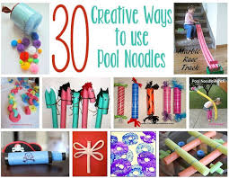 30 creative things to do with pool noodles about family crafts