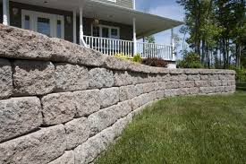 garden walls stone garden edge wall high performance concrete linear tumbled