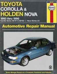 1996 toyota corolla repair manual toyota corolla holden 1993 1996 haynes owners service