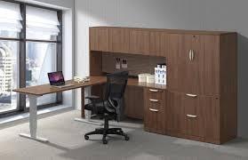 L Shaped Adjustable Height Desk by L Shaped Desk With Side Storage Decorative Desk Decoration