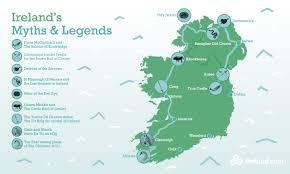Map Of Dublin Ireland Myths Of Ireland A Legendary Journey Ireland Com